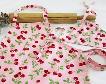 ready to ship Tossed Cupcake Doll Apron with sprinkles pocket