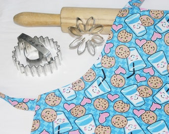 Cookies  and Milk Child Apron