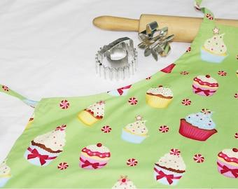 Christmas Cupcakes Adult Apron