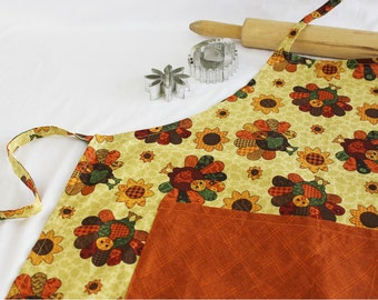 Turkey Adult Apron with pocket