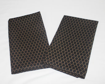 Chicken Wire Farmhouse Cloth Napkins - Double Sided, Thick and Large - set of 2