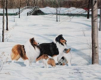 "Shetland Sheepdog ""Second Generation"" lithograph print"