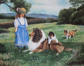Time of Dreams limited edition Collie lithograph