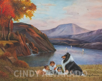 """Collie Limited Edition Print, """"This Storied Land"""""""