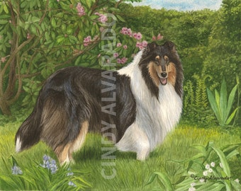 """Limited Edition Collie print, """"Enchantment"""""""
