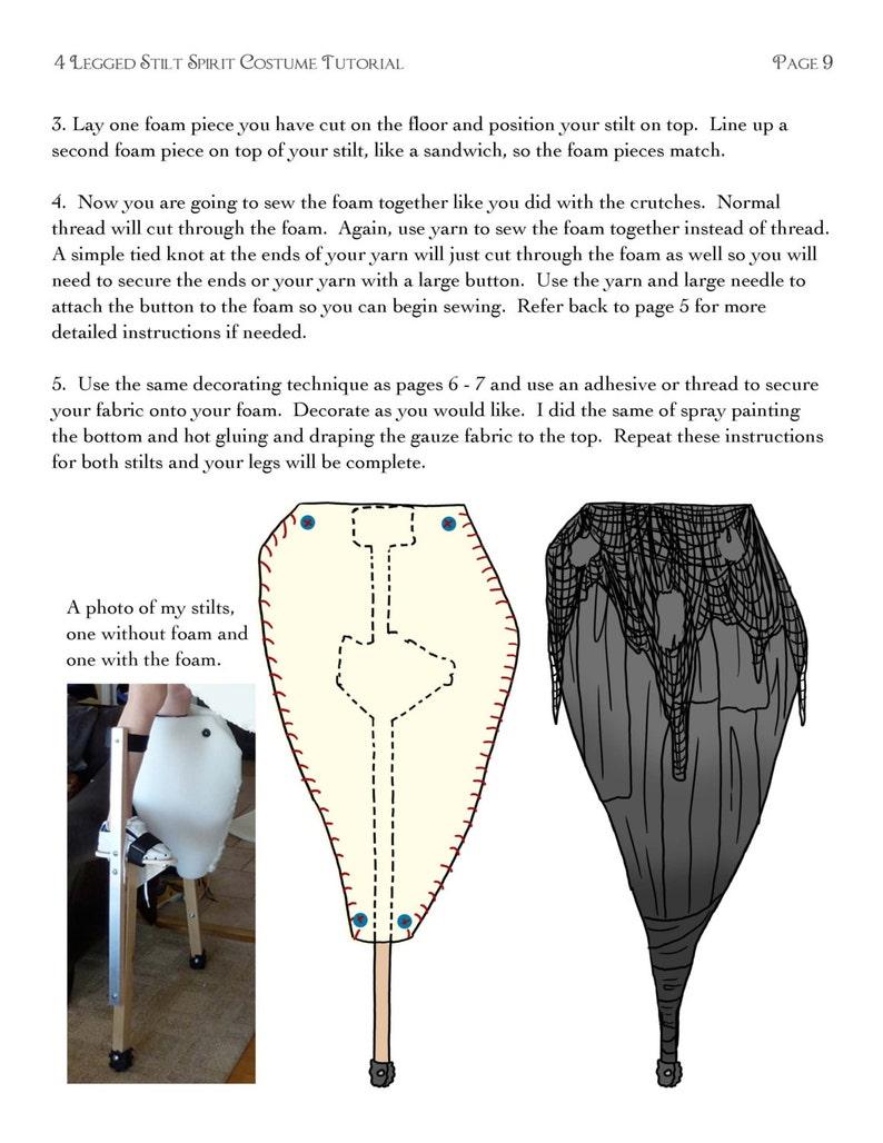 4 Legged Stilt Spirit Halloween Costume Tutorial   As Seen On YouTube    Immediate Download!