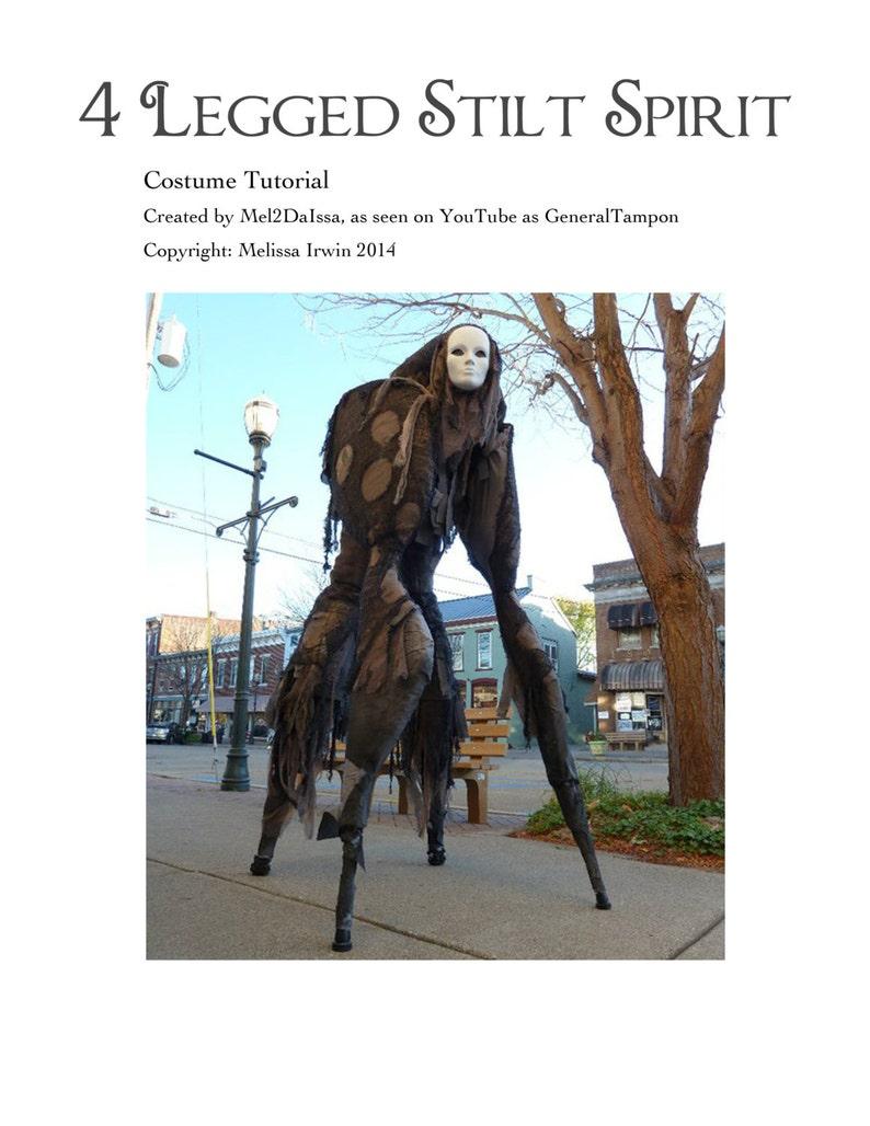 4 Legged Stilt Spirit Halloween Costume Tutorial  As Seen on image 0