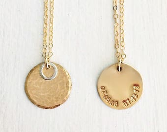 Secret Message Necklace, Wife Gift, Anniversary Gift, Mothers Jewelry, Custom Date Necklace, Date Jewelry, Birthdate Jewelry, Mom Necklace