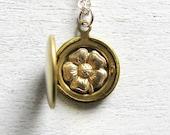 Flower Girl Gift, Flower Girl Jewelry, Bridesmaid Jewelry, Flower Jewelry, Floral Jewelry, Flower Locket, Wedding Jewelry, Spring Weddings,