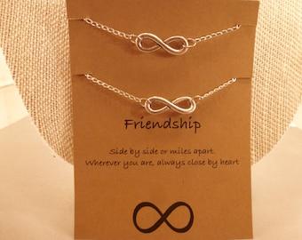 Infinity Bracelets: Set of Two Infinity Friendship Bracelets, Long Distance Friendship, Wish Bracelets, Best Friends, Friendship Bracelets