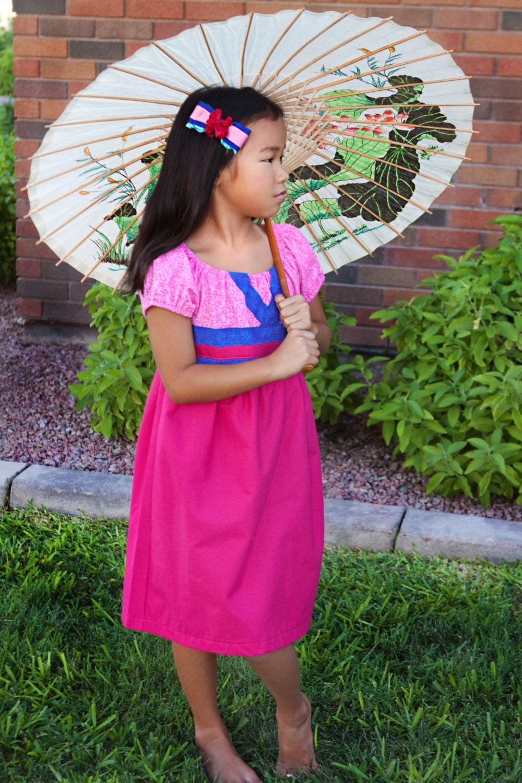Vestido de Mulan Disney inspirado en princesa Dress Up traje