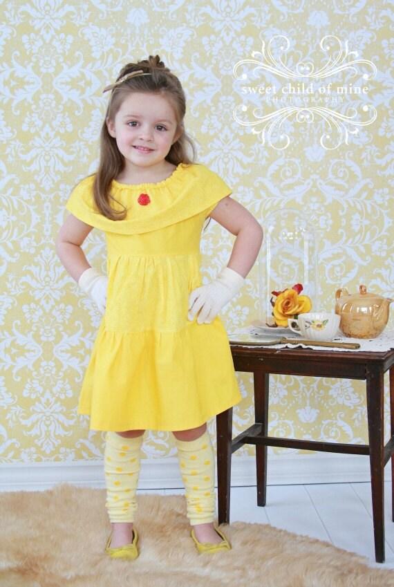 Bell Vestido Princesa Disney Inspirado Vestido Belleza Y Bestia Vestido Vestido De Princesa Traje De Las Niñas Disfraz De Halloween
