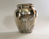 Arts and Crafts Era Mixed Metals Vase by Otto Heintz