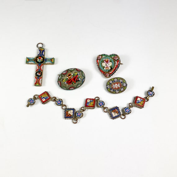 Lot of Micro Mosaic Jewelry - As Is!
