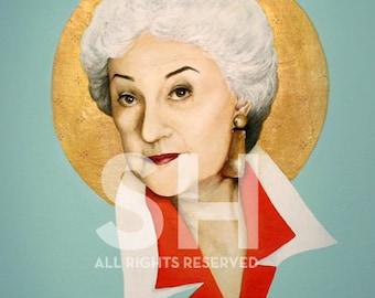 Dorothy Zbornak / Bea Arthur Portrait Print