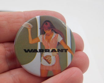 Vintage 80s 1980s Rock Band Warrant Pinback Pin Button - Dated 1989 - Fan  Pin DR29 8c6e88c06706
