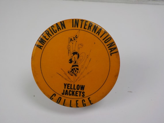 Vintage AIC American International College Yellow