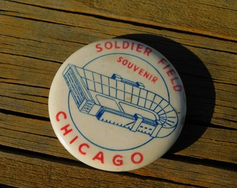 Vintage 1950's 60's Souvenir From Soldier Field Chicago Illinois The Bears NFL Football dr10