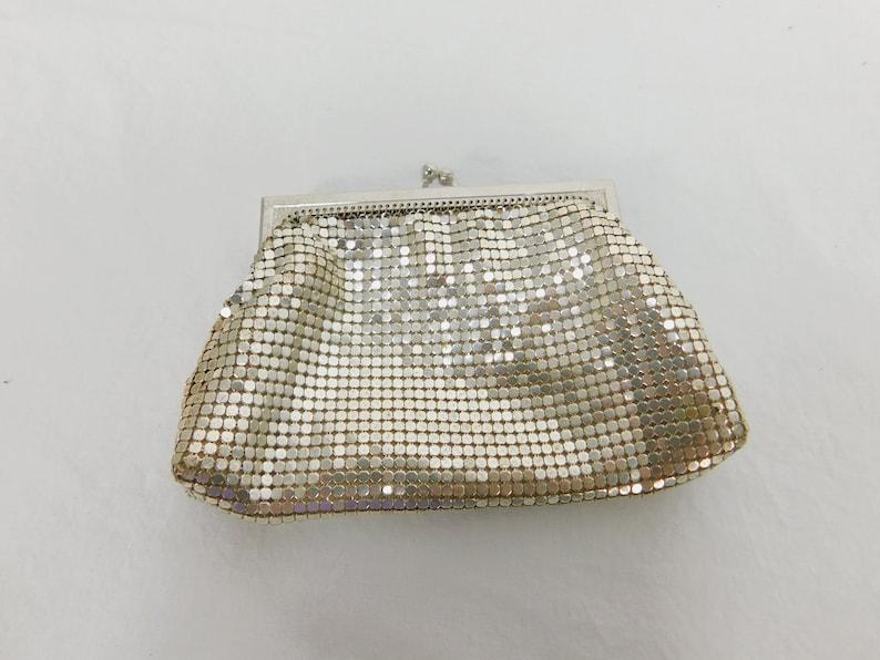 1940/'s Vintage Whiting and Davis Metal Mesh Handbag or Purse Clutch