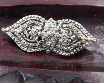 Vintage Costume Jewelry Pin Or Brooch Looks Like Marcasites