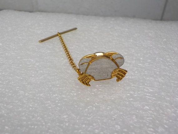 Novelty Tie Tack King Crab Tie Tack Mens Gift Vintage Tie Tack Animal Crustacean Ocean Sea Nautical Beach Gold Tone