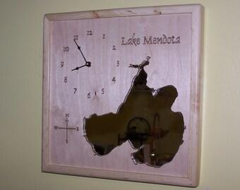 Lake Mendota, Lake Menona, Lake Winnebago, WI Mirror Map
