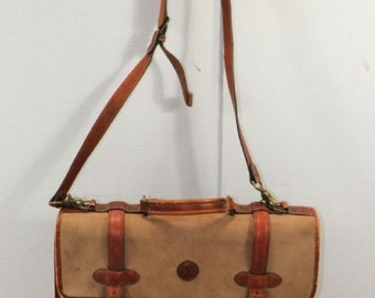 0edabd1182 vintage Timberland Heavy duty brown leather mens briefcase messenger bag Usa