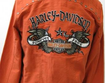 Harley Davidson orange men's jacket size: L