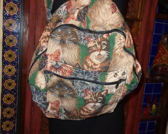 Cat Tapestry large backpack, New