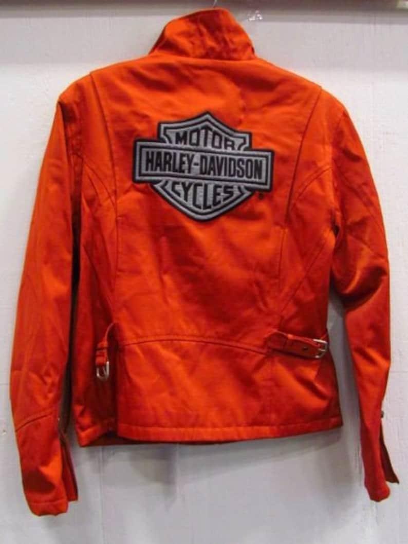 6879370c2c76 Harley-Davidson orange riding Jacket Size Xs