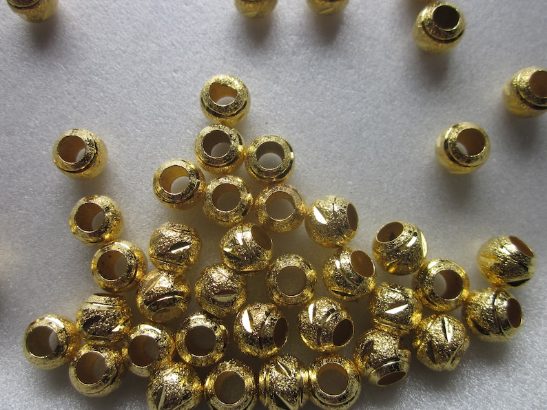 Copper Gold Stardust Beads 8mm 16 Beads