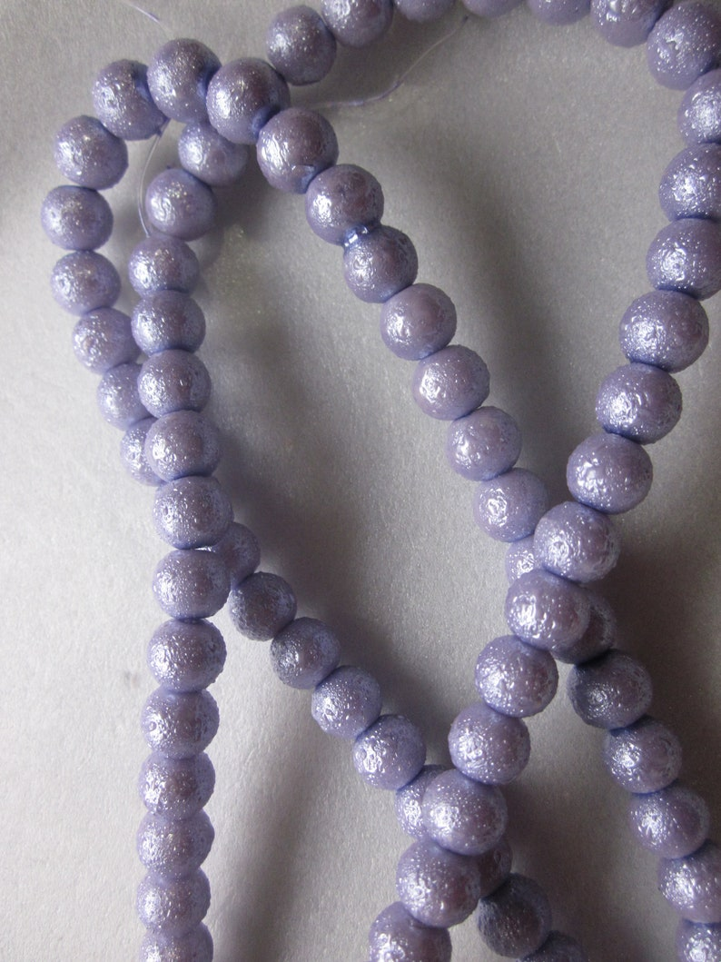 Lavender Round Glass Beads 8mm 16 Beads