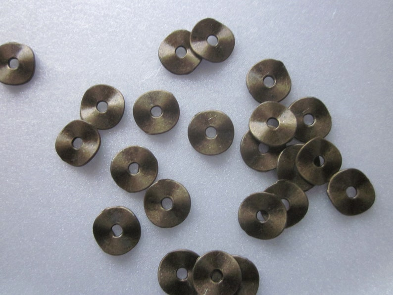 Bronze Zinc Based Alloy Donut Spacer Beads 10mm 20 Beads
