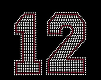 Rhinestone Custom 2 Digit Number Transfer