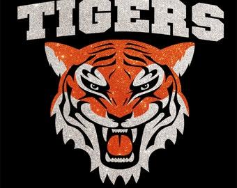 Women's Glitter Bling Tigers shirt