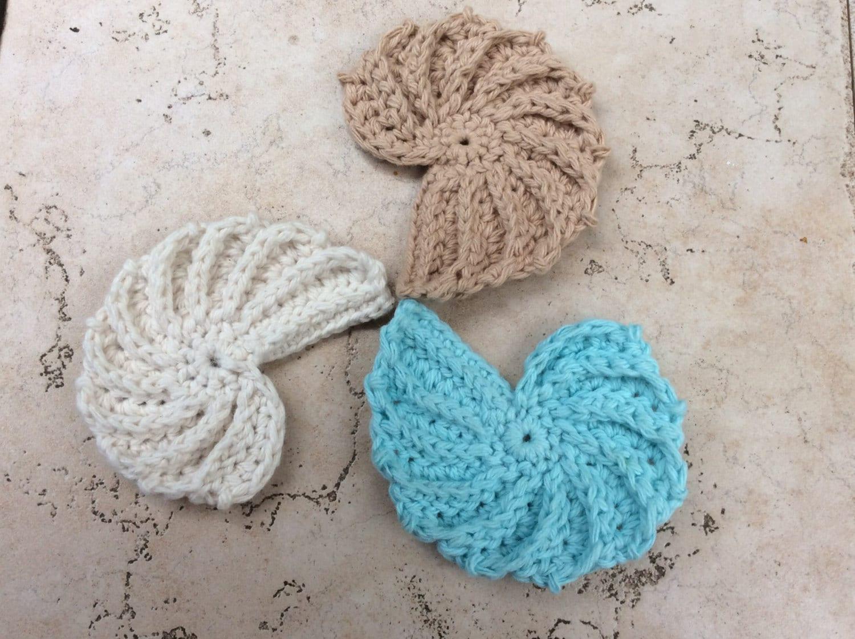 Crochet Pattern Seashell Pdf Seashell Pattern Coaster Etsy