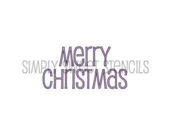 Merry Christmas Word Stencil