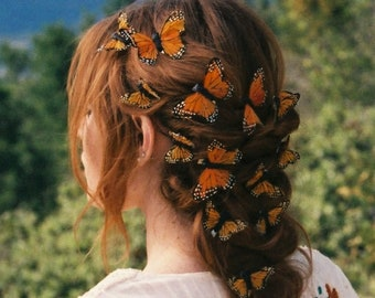 Monarch Fairy Butterfly Hair Clips - Set of 12