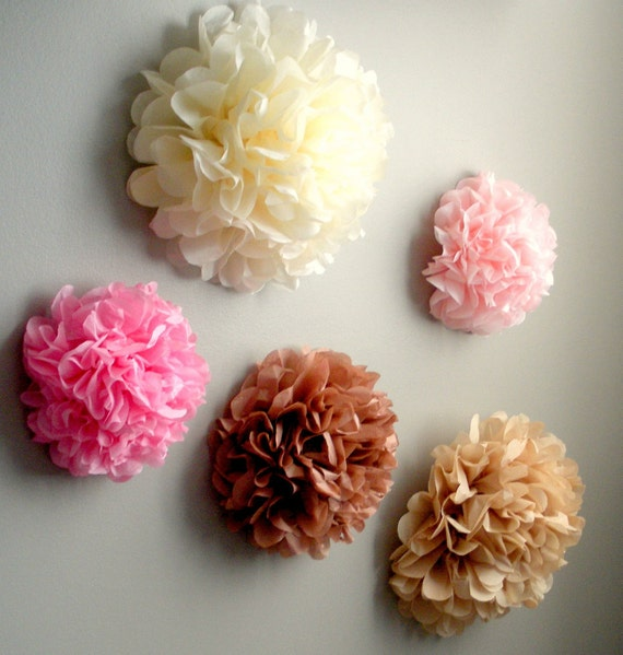 5 tissue paper pom pom wall flowersoose your etsy image 0 mightylinksfo