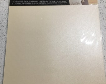 7 sheets of ivory Shimmer Cardstock, 8 1/2 x 11, invitation paper, ivory