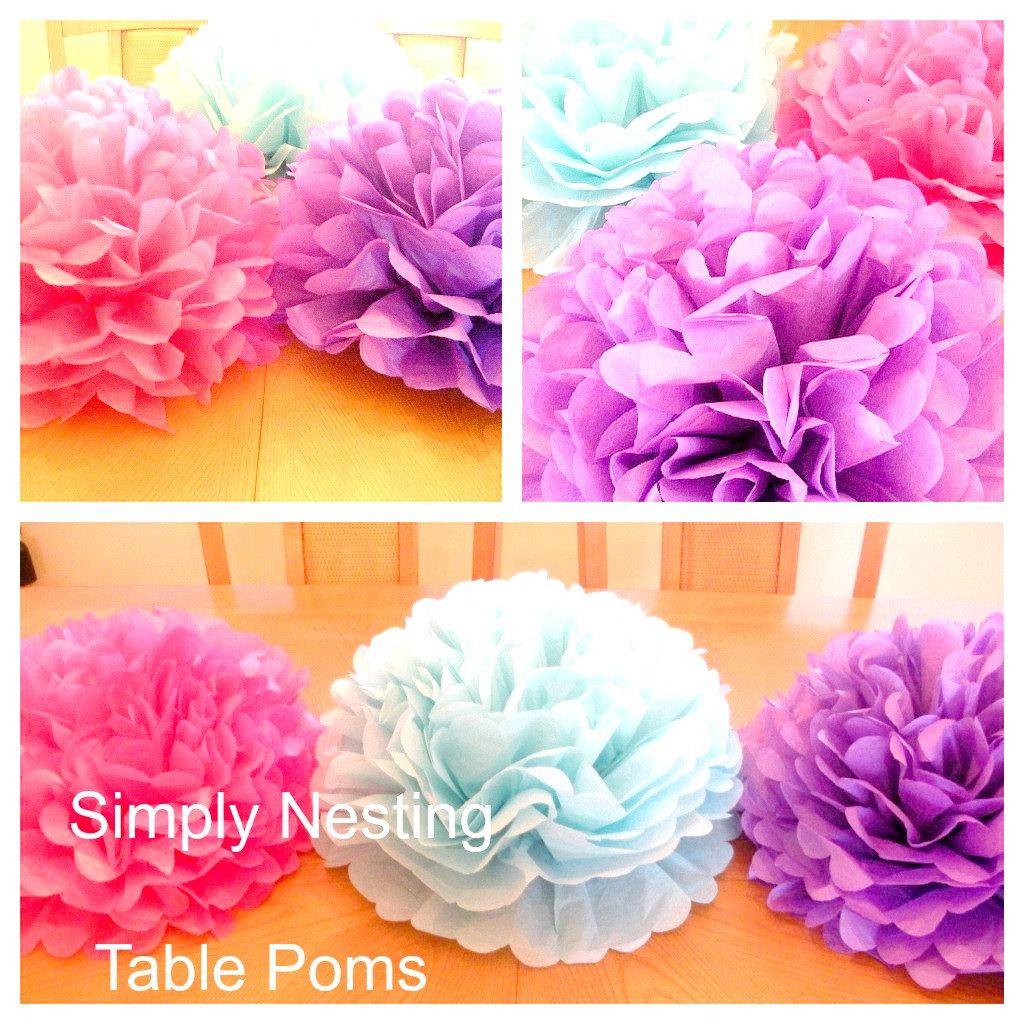 1 Table Centerpiece Tissue Paper Pom Pomtable Etsy