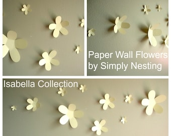 Paper Wall Flowers... Set of 10...Isabella Collection...Choose your colors