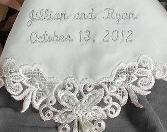 Wedding Handkerchief For Daughter   Handkerchief for Daughter on Wedding Day   Wedding Hanky for Bride