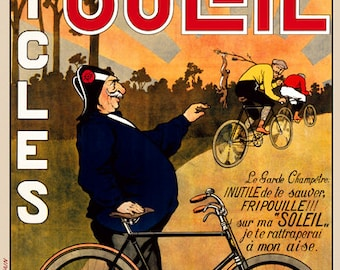Cycles Soleil Bicycle Poster (#0084) 6 sizes