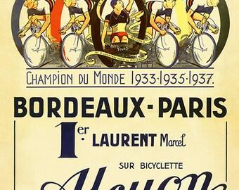 Alcyon Bordeaux-Paris Bicycle Poster (#0910)  6 sizes