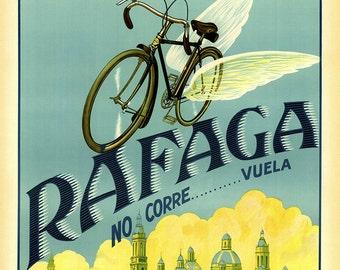 Pulphi Bicycle Poster (#0838) 6 sizes