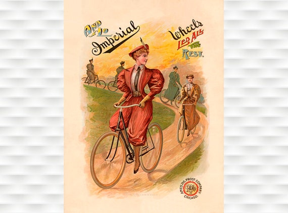 Vintage French Alcyon Cycles Bicycle Travel Advertisment Poster Art Print A3 A4