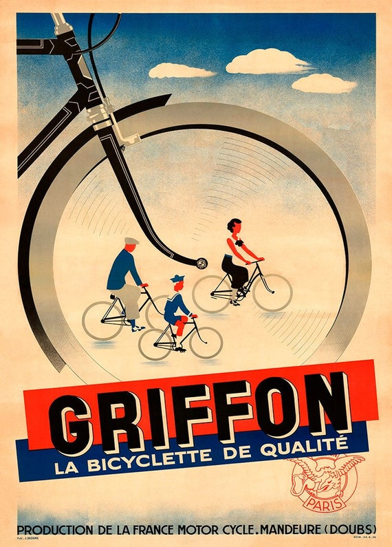 Cycle Gryphon Vintage Cycling advertising poster reproduction.