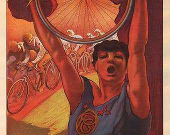 Pneu Colonial Bicycle Poster (#0102) 6 sizes