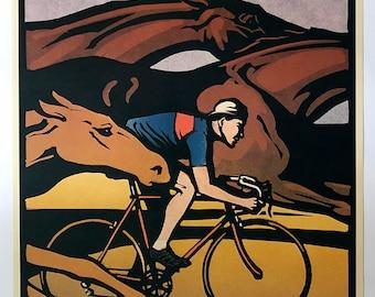 Bridgestone Saddle Up Bicycle Poster